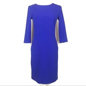 MM Lafleur Cobalt Blue Etsuko Sheath Dress Sz 0